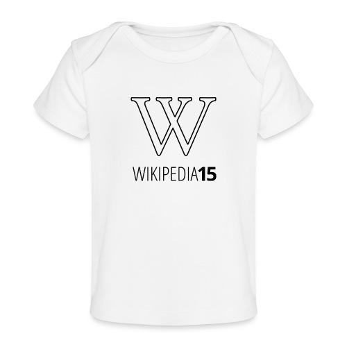 W, rak, vit - Ekologisk T-shirt baby