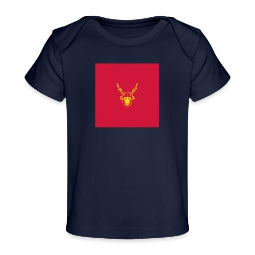 scimmiacervo sfondo rosso - Maglietta ecologica per neonato