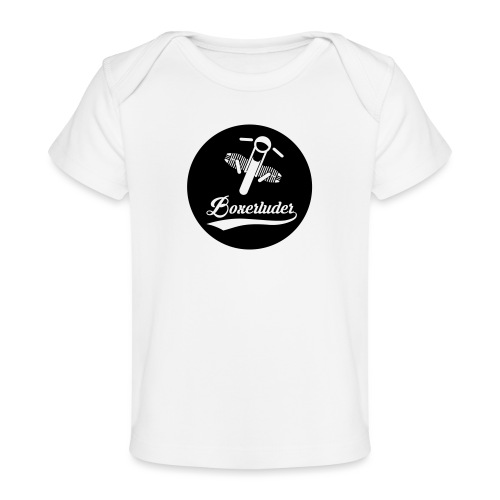 Motorrad Fahrer Shirt Boxerluder - Baby Bio-T-Shirt