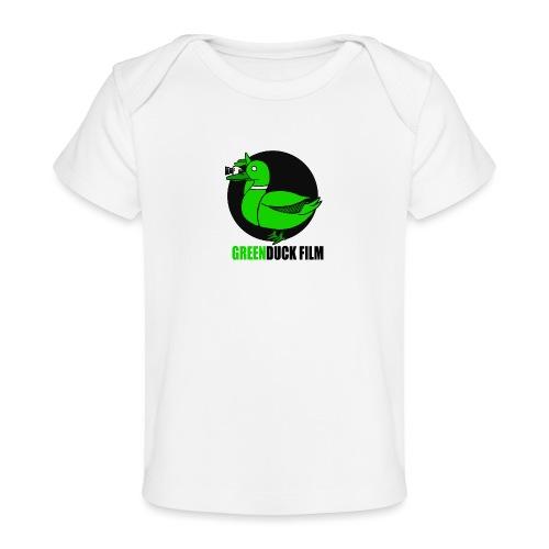 Greenduck Film Logo w. black letters - Økologisk T-shirt til baby