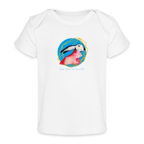 Niedlicher Osterhase mit Rolli - Baby Bio-T-Shirt