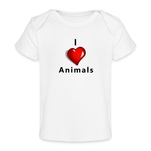 i love animals - Baby bio-T-shirt