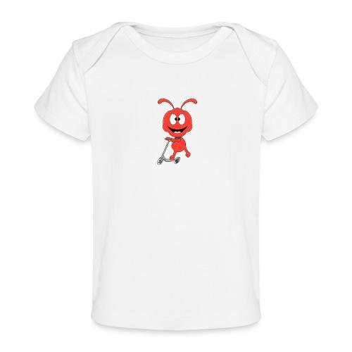 Lustige Ameise - Roller - Sport - Kind - Baby - Baby Bio-T-Shirt