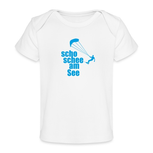 scho schee am See Surfer 01 kite surfer - Baby Bio-T-Shirt