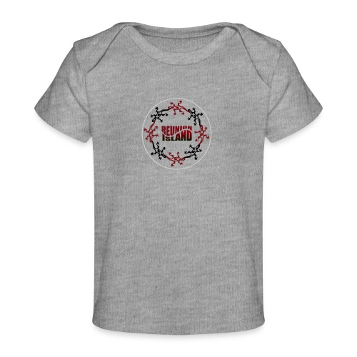 Badge Reunion Island Rouge - T-shirt bio Bébé