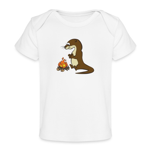 Song of the Paddle; Quentin campfire - Organic Baby T-Shirt