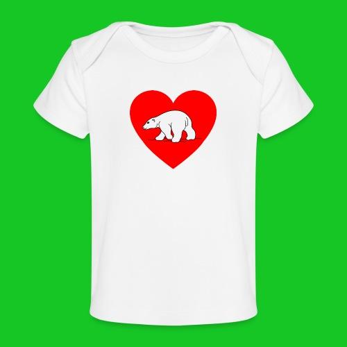 I Love ijsbeer - Baby bio-T-shirt