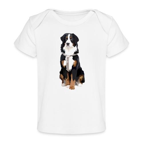 Freja sitter framifrån - Ekologisk T-shirt baby