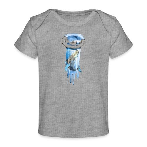Wal im Abfluss (Whale in the Drain) - Baby Bio-T-Shirt