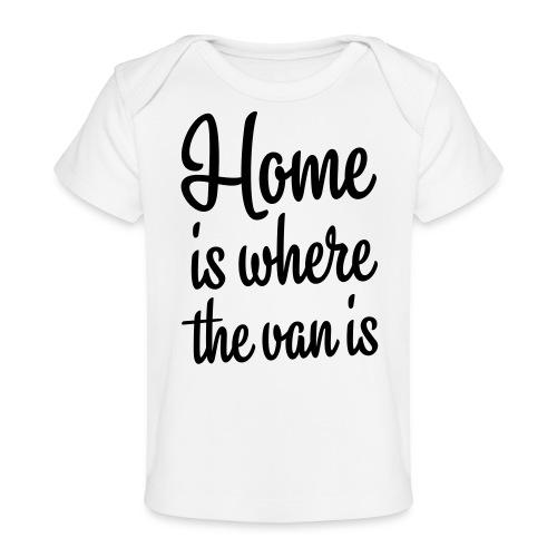 camperhome01b - Økologisk baby-T-skjorte