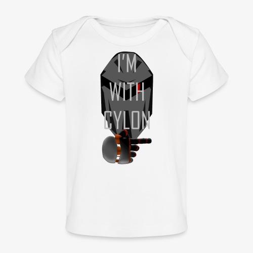 I'm with Cylon - Økologisk baby-T-skjorte