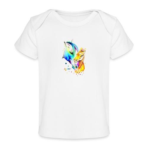 Jument et son poulain - T-shirt bio Bébé