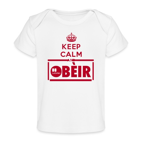 KEEP CALM AND - Økologisk T-shirt til baby