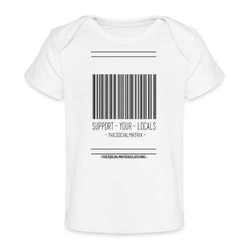 STEUN JE LOKAAL - Baby bio-T-shirt