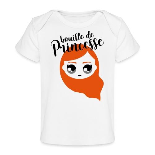 Bouille de princesse (couleurs personnalisables) - T-shirt bio Bébé