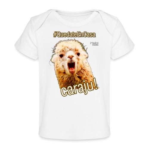 Quedate En Casa Caraju - Camiseta orgánica para bebé