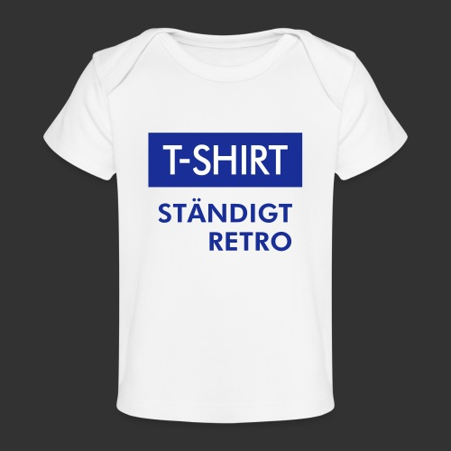 BLÅVITT T-SHIRT - Ekologisk T-shirt baby