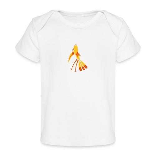 Gelb-Schnabel-Vogel - Baby Bio-T-Shirt