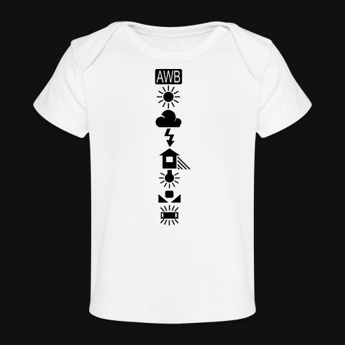 Weissabgleich Symbole Vertikal - Baby Bio-T-Shirt
