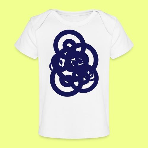 espirales azul - Camiseta orgánica para bebé