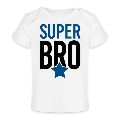 Super BRO Bruder schwanger Geschenk Babybody - Baby Bio-T-Shirt