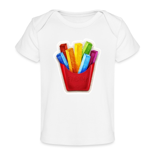 FRIESday - Pommes-Tag ist der beste Tag - Baby Bio-T-Shirt