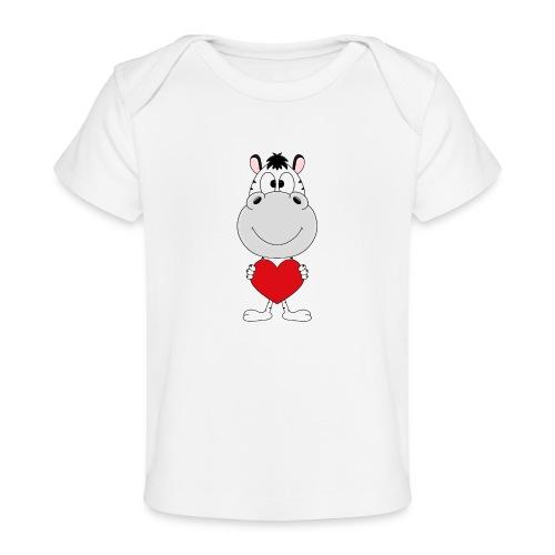 ZEBRA - HERZ - LIEBE - LOVE - TIER - KIND - BABY - Baby Bio-T-Shirt