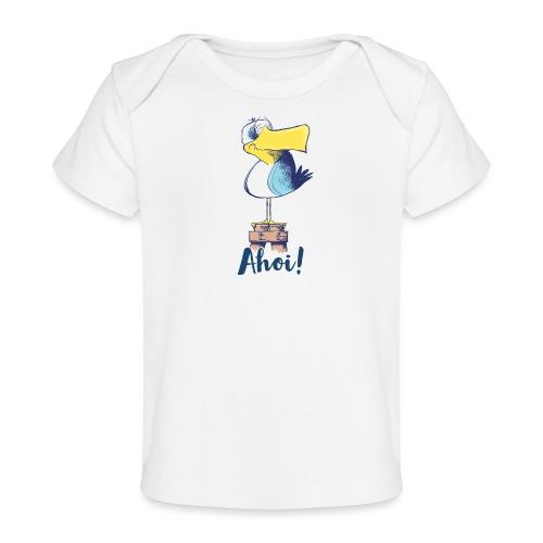 Lustige Ahoi Moewe - Baby Bio-T-Shirt