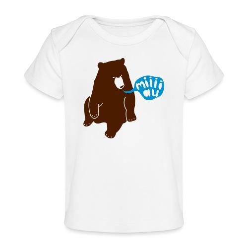 Bär sagt Miau - Baby Bio-T-Shirt