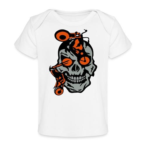 tete mort moto motrocycle oeil skull - T-shirt bio Bébé