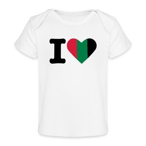 hartjeroodzwartgroen - Baby bio-T-shirt
