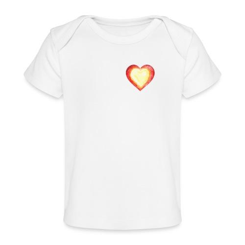 Burning Fire Heart - Organic Baby T-Shirt