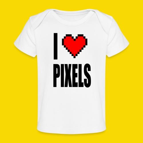 I Love Pixels - Ekologiczna koszulka dla niemowląt