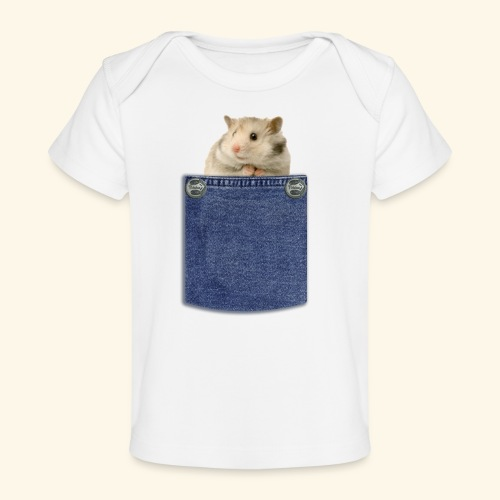 hamster in the poket - Maglietta ecologica per neonato