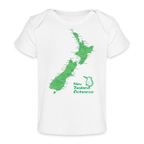 New Zealand's Map - Organic Baby T-Shirt