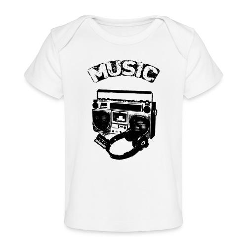 musik1 - Økologisk T-shirt til baby