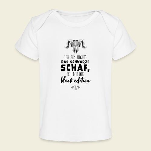 Schwarzes Schaf - white edition - Baby Bio-T-Shirt