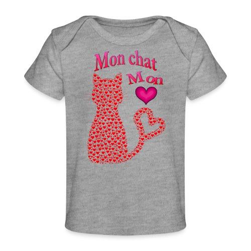 Mon chat mon coeur - T-shirt bio Bébé