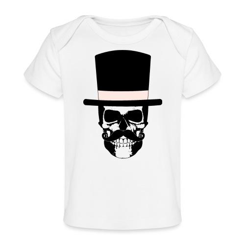 Gentleman Skull mit Zylinder und Schnauzer - Baby Bio-T-Shirt