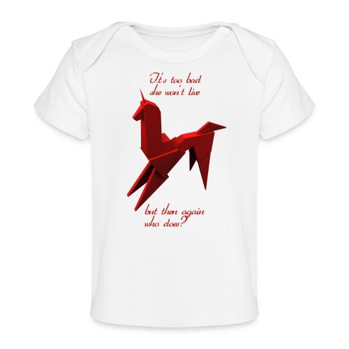 UnicornioBR2 - Camiseta orgánica para bebé