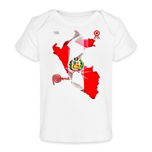 Mapa del Perú, Bandera y Escarapela - Camiseta orgánica para bebé