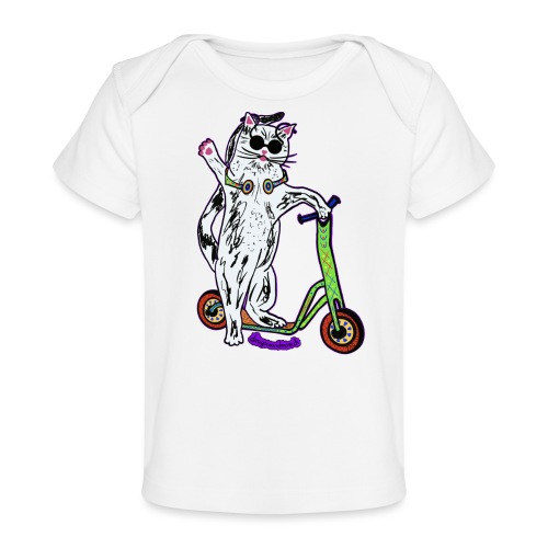 Chat Trottinette - Baby Bio-T-Shirt