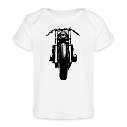 Motorcycle Front - Organic Baby T-Shirt