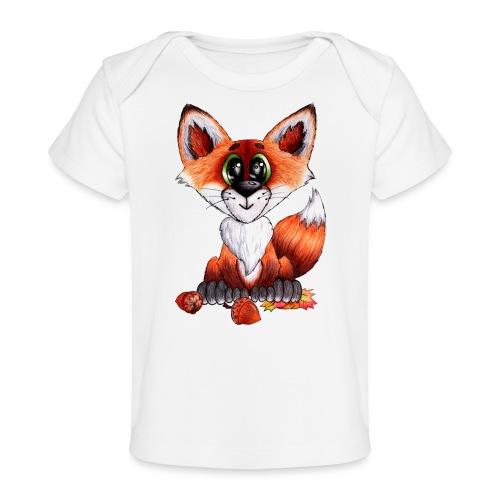 llwynogyn - a little red fox - Vauvojen luomu-t-paita