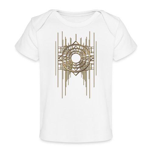 Abstract Geometry Gold Metal Art Deco Vintage - Organic Baby T-Shirt