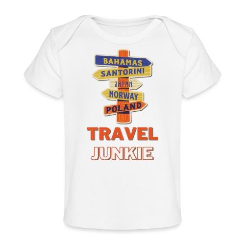 traveljunkie - i like to travel - Baby Bio-T-Shirt