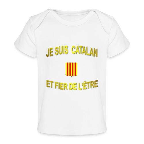 Tee-Shirt supporter du pays CATALAN - T-shirt bio Bébé