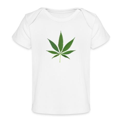 2000px-Cannabis_leaf_2 - Økologisk T-shirt til baby
