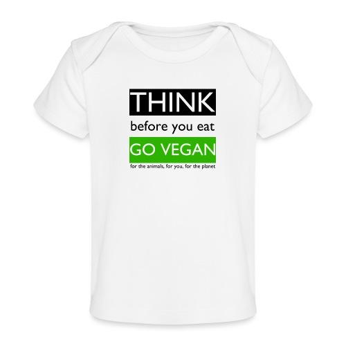 go vegan - Maglietta ecologica per neonato