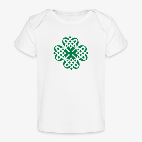 Shamrock Celtic knot decoration patjila - Organic Baby T-Shirt